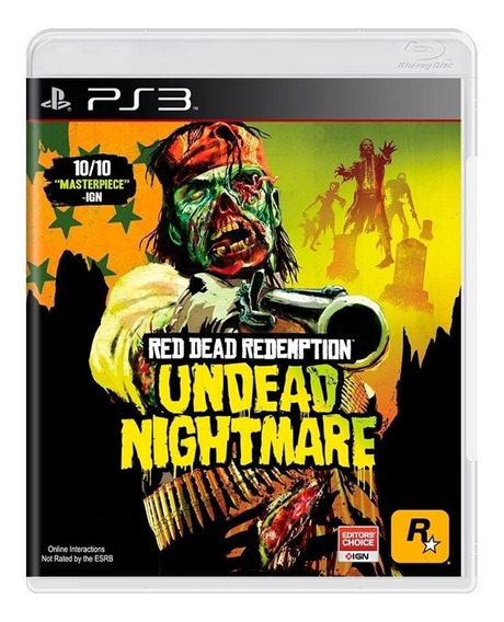 Red Dead Redemption Undead Nightmare Ps3 Mídia Física