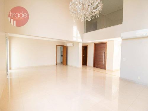 Cobertura Com 4 Dormitórios, 450 M² - Venda Por R$ 3.000.000,00 Ou Aluguel Por R$ 11.000,00/mês - Residencial Morro Do Ipê - Ribeirão Preto/sp - Co0068