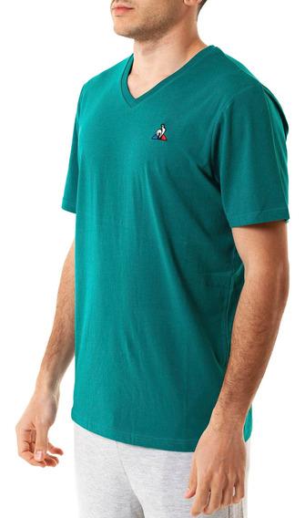Remera Ess V Neck Tee Verde Hombre Le Coq Sportif
