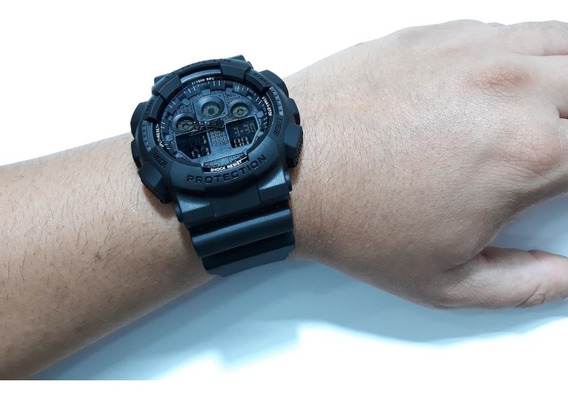 Relógio Preto Analógico Digital Emborrachado Esportivo Milit