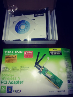 Antena Internet Wi Fi Tp Link 300mbps Pci Tl-wn851nd