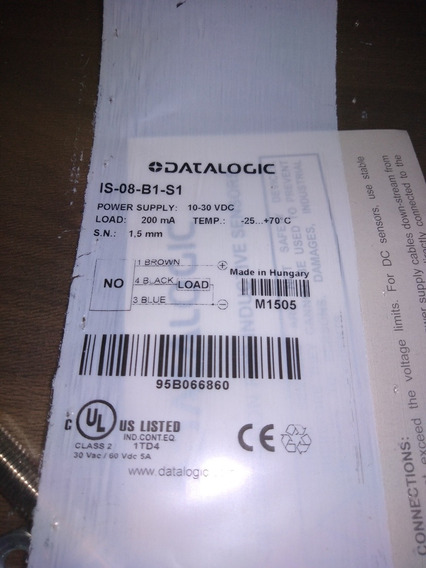 Is08b1s1 - Lm8-3001pa -dp1-9a Sensor Indutivo M8pnp Na