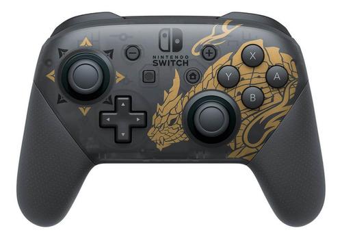 Imagen 1 de 2 de Control joystick inalámbrico Nintendo Switch Pro Controller monster hunter rise edition