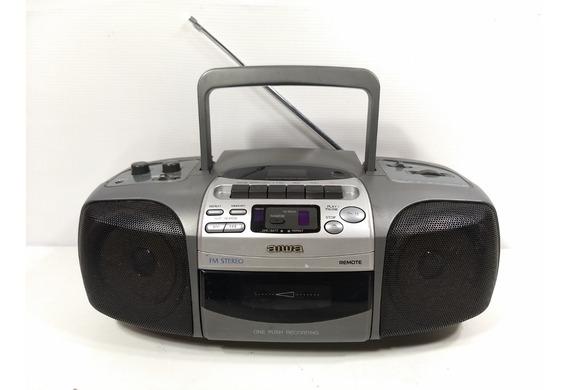 Micro System Aiwa Radio Am Fm Toca Fitas Portátil Retro Som