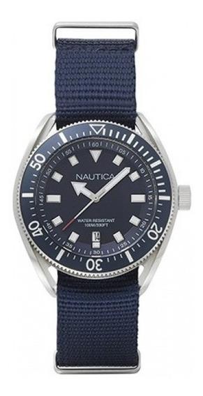 Reloj Nautica Para Caballero Color Azul Modelo: Napprf009
