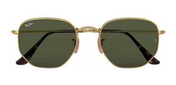 Óculos Ray Ban Hexagonal Flat Lenses Masculino