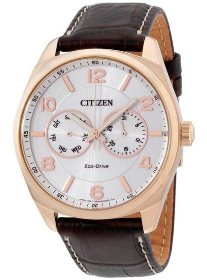Relógio Citizen Masculino Eco-drive Couro Marrom Tz2000s