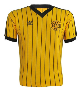 Camisa Retrô Borussia Listada Logo