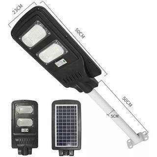 Foco Led Solar 90w Sensor + Control + Poste Soporte / 2013