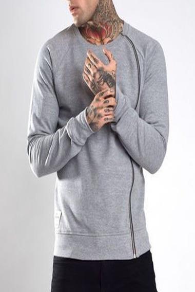 Blusa Jaqueta Moletom Ziper Frio Slim Fit Masculina Offert