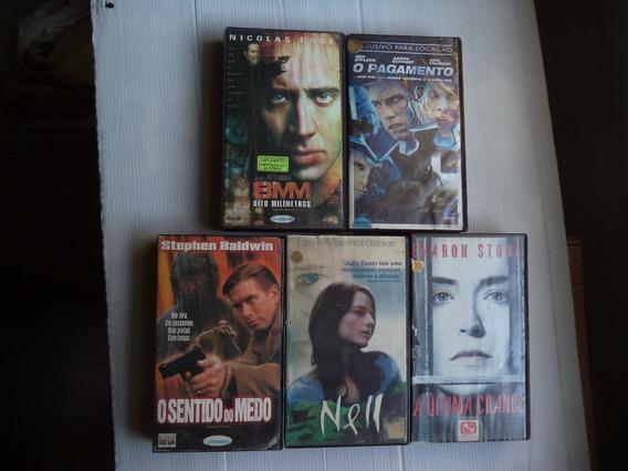 Lote Filmes Vhs 8mm O Pagamento Nell/... -5 Unid Legendados