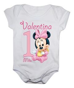 Body Mesversario Disney Baby Kit 12 Bodies Com Nome Do Bebê