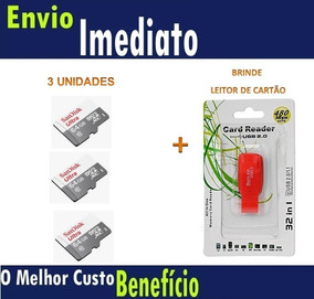 3 Und Cartão Microsd Ultra 64gb Classe10 Sandisk Original