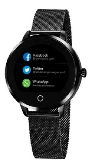 Relógio Unissex Seculus Smart Preto Cód. 79003lpsvpa3