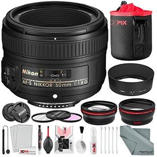 Nikon Afs Nikkor 50 Mm F 18g Lente Con Paquete De Accesorio