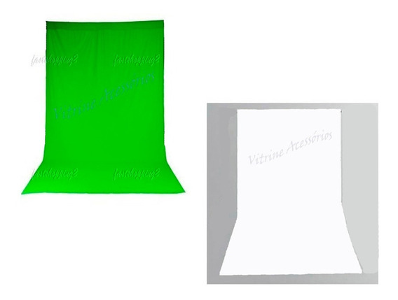 2 Tecido 3x6 Branco/verde Fundo Infinito Estúdio Fotográfico Youtuber Fundo Infinito Foto Chroma Key Igreja Ring Ligth