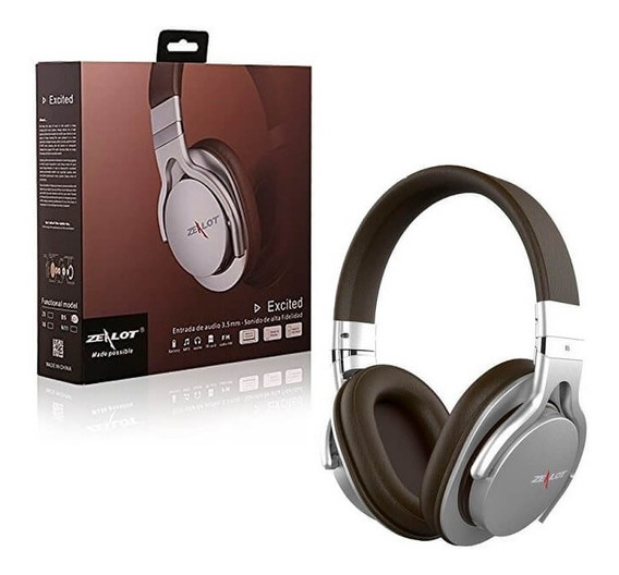 Fone De Ouvido Headphone Bluetooth Wireless Zealot Aux B5