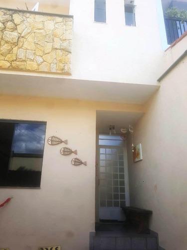 Imagem 1 de 20 de Sobrado À Venda, 3 Quartos, 1 Suíte, 2 Vagas, Marajoara - Santo André/sp - 61764