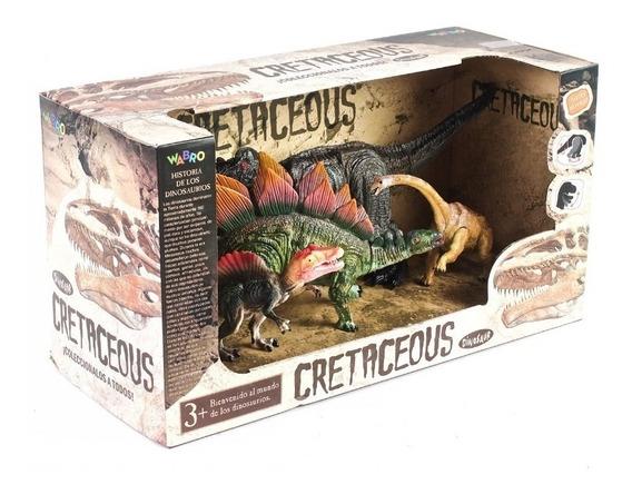 Cretaceous Set De Dinosaurios Articulados X4