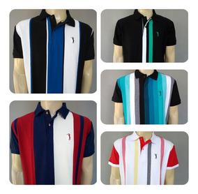 Kit 5 Camisas Pólos Listradas A/l