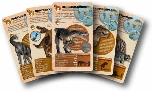 Luminias Baraja Dinosaurios - Juego Enciclopédico Fichas