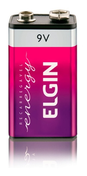 5 Baterias Recarregáveis 9v (82215) 250mah Elgin