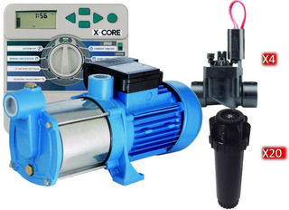 Kit Riego Bomba 1.25hp + Controlador + Toberas + Electroval