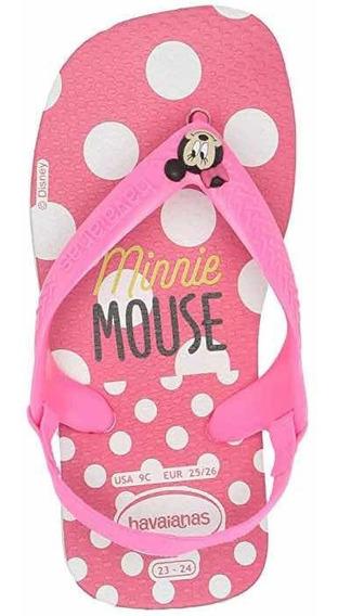 Ojotas Havaianas De Nena Minnie Mouse