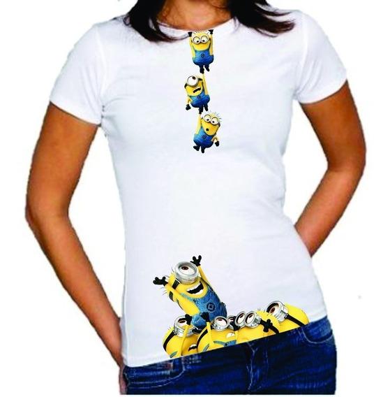 Baby Look Minions Meu Malvado Favorito Feminina Camiseta