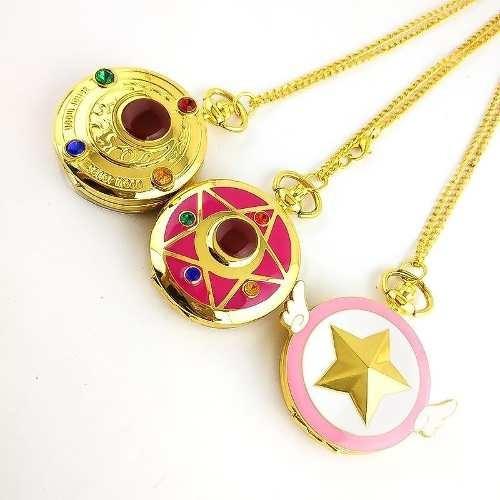 Set 3 Reloj De Bolsillo Sailor Moon Y Sakura Card Captor