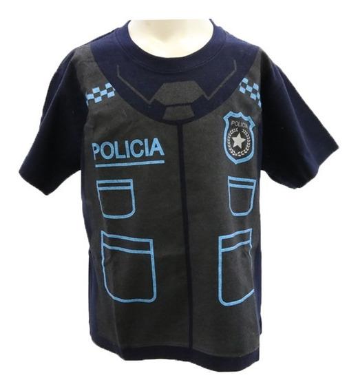 Playera De Policía Para Niño