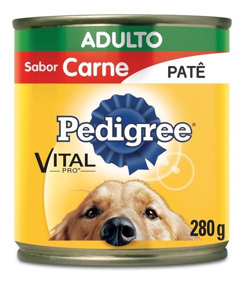Ração Pedigree Lata Patê De Carne Para Cães Adultos - 280 G