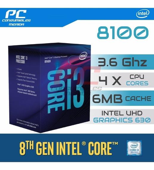 Processador Intel Core I3 8100 1151 Oitava Geração Box 100%