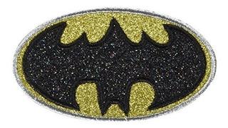 Aplicacion Dc Comics Originals Batman Logo Con Silver Glitte