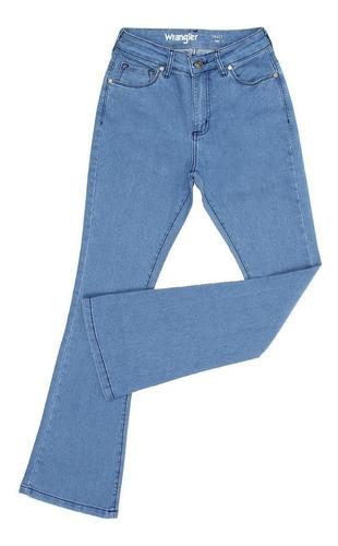 Imagem 1 de 3 de Calça Jeans Flare Feminina Azul Com Elastano Original Wrangl
