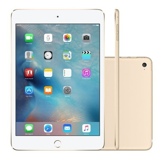 Tablet Apple iPad Mini 4 16gb Wifi Tela Retina 7.9 I Vitrine