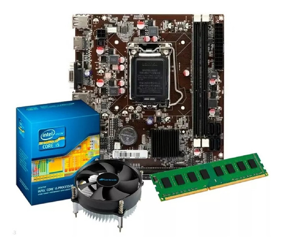Kit I5 3470 + Placa H61 1155 + 8gb Ddr3 1600 Mhz Novo
