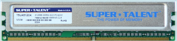 Memoria Super Talent Ddr2 512 Mb 667 X 2u