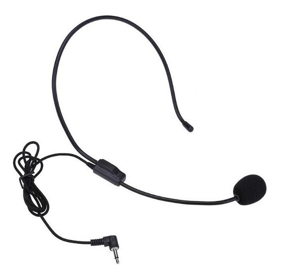 Microfone P2 Com Armação Suporte De Cabeça Chat Game Call