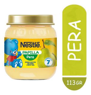Nestle Papilla Pera X 113g Combo X 4