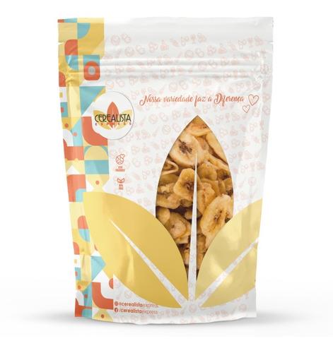 Imagem 1 de 5 de Banana Assada Chips Salgada 500g - Qualidade Premium