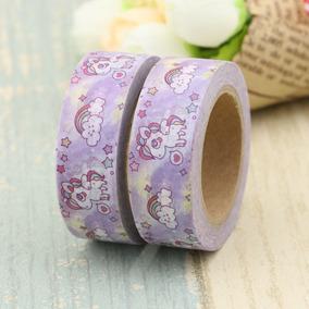 Washi Tape Fita Adesiva E Decorada Unicórnio