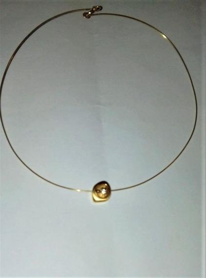 Belíssimo Colar Em Ouro 18k Pingente Diamante De 25 Pontos