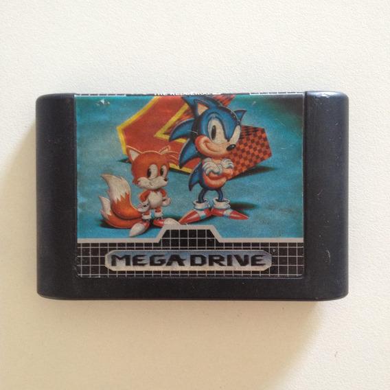 Fita Mega Drive Sonic The Hedgehog 2 Original 1992 .