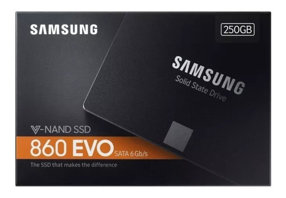 Hd Ssd 250gb Samsung 860 Evo 2.5 Pol Sata3 V-nand 550mb/s