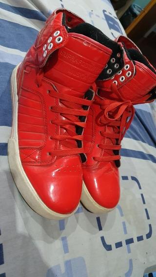 Zapatillas Supra Rojo Charol Unicas ! Talle 39