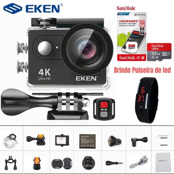 Câmera Ação Original Eken H9r 4k Wifi+cartão32gb+acessórios
