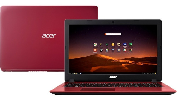Notebook Acer A315 Core I3-6006u 12gb 256 Ssd Tela 15,6 Hd