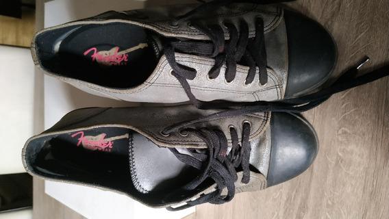 Zapatillas Fender Gris Plata