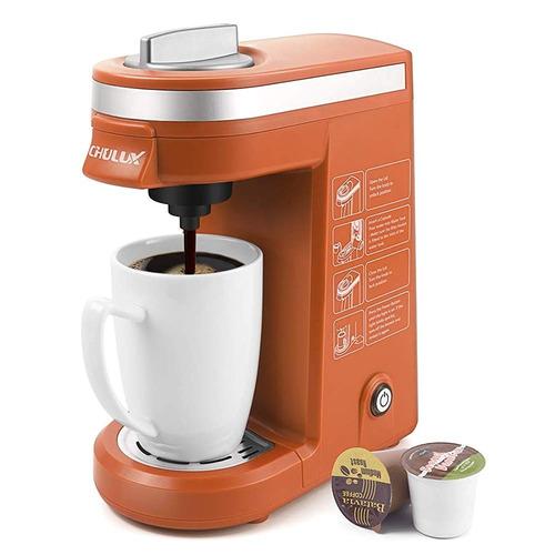 Máquina De Café De Un Solo Servicio, Color Naranja, Chulux